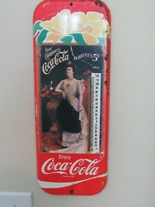 OLD COCA COLA WALL THERMOMETER