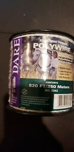 Dare 2343 Electric Fence Wire White Poly 3 wire Stainless Steel 820 ft Spool