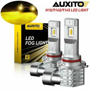 Auxito 9145 9140 H10 Led Fog Driving Light Bulbs Golden Yellow Canbus 100w Smd