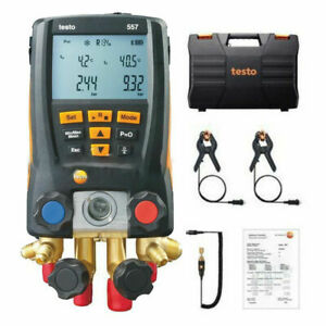 Testo 557 Refrigeration Digital Manifold Kit Hvac Gauge System With 2x Ntc Clamp