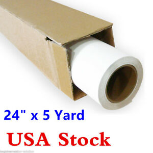 24 X 5 Yards Roll White Iron On T shirt Press Printable Pu Heat Transfer Vinyl
