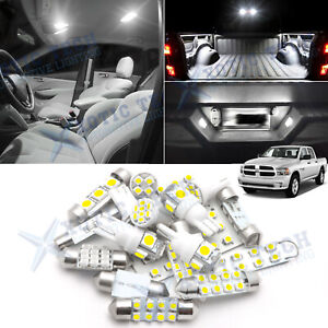 White Led Interior License Cargo Light Pkg Kit For Ram 1500 2500 3500 2013 2018