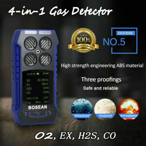 4 In 1 Toxic Gas Alarm Detector Co O2 H2s Oxygen Monitor Gas Analyzer Meter Us