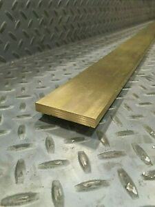 Brass Flat Bar 3 8 X 2 1 2 C360 Brass sold Per Foot