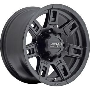 1 New 15x8 Mickey Thompson Sidebiter Ii Black Wheel Rim 22 5x4 50