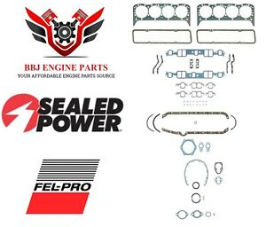 Chevy Chevrolet 283 307 327 350 Sbc Fel Pro Sealed Power Gasket Set 1959 1979