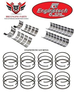 Chevy Chevrolet 427 454 70 90 Enginetech Rod Main Bearings And Piston Rings