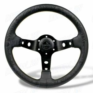 13 Black Deep Dish Car Racing Drift Race Sport Vertex Steering Wheel Universal