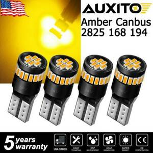 4x Auxito 168 194 192 2825 T10 Led Side Marker Light Bulb Smd Amber Error Free A