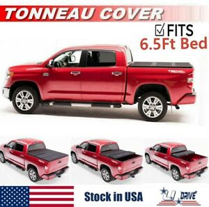Solid Tri fold Tonneau Cover For 2007 2020 Toyota Tundra 6 5ft 78in Bed Cover