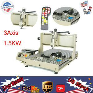 Usb 3axis 6090 Cnc Router Engraver Machine Drilling Milling Woodworking 1500w rc