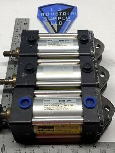 lot Of 3 Parker 2ma Cylinders 02 50 Cbb2mauv18ac 2 000 warranty fast Shipping