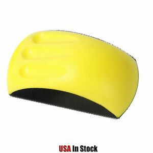 6 Hook And Loop Foam Hand Sanding Block Mouse Shaped Yellow