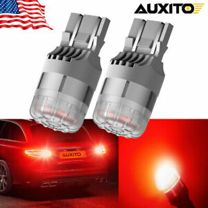 Auxito 7443 7444 7440 7441 Led Bulbs Brake Stop Light Red Super Bright Smd 2pcs