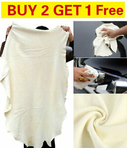 Large Natural Chamois Leather Car Cleaning Washing Drying Towel Buy 2 Get 3