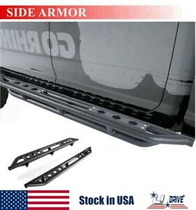 6 For 2007 2021 Toyota Tundra Double Cab Nerf Bars Side Steps Running Boards