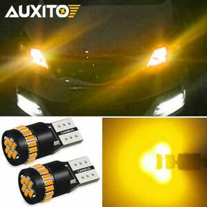 Canbus Led Side Marker Light Bulbs Lamps Amber Yellow 3000k 168 192 194 2825 T10