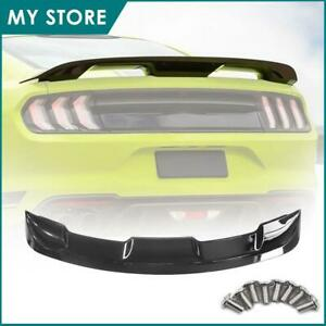 Fits 2015 2020 Ford Mustang Coupe Gt500 Style Trunk Spoiler Wing Gloss Black Abs