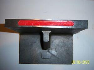 Hardened Cast Iron Ground Angle Plate Size 6 x5 x5 8 Condition Used