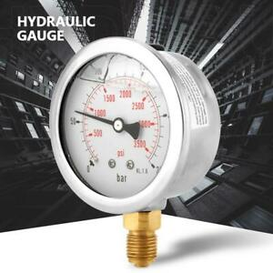 Pressure Gauge 1 4 Thread Mini Hydraulic Water Pressure Gauge 0 250psi