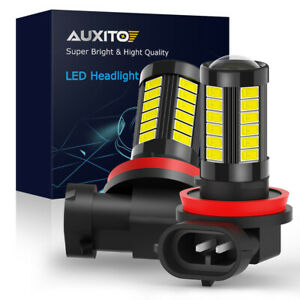 Auxito Led Fog Driving Light H11 H16 H8 6000k Super Bright Bulbs 5630smd 2000lm