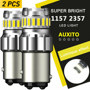 Auxito Led Front Turn Signal Drl Parking Light Bulb 1157 2057 2357 White 2fserie