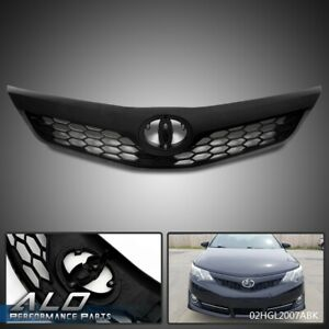 Front Bumper Upper Hood Honeycomb Grill Grille For 2012 2014 Toyota Camry Se Xse