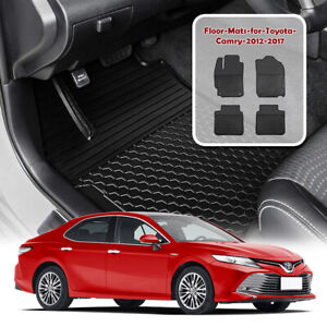 For 2012 2017 Toyota Camry Floor Mats Liners All Weather Waterproof Protection