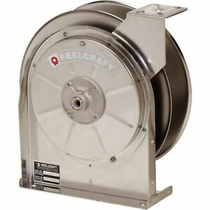 Reelcraft Spring Retractable Stainless Steel Air water Hose Reel No Hose