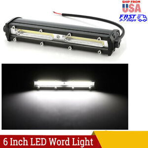 2x 18w 6inch Led Work Light Bar Flood Lamp Offroad Driving Fog 4wd Ute Suv Truck