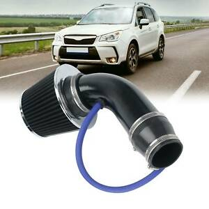 Carbon Fibre Auto Cold Air Intake Filter Induction Pipe Power Flow Hose System