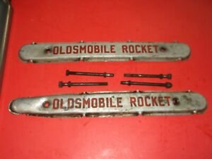1949 1950 Oldsmobile Rocket Valve Cover Pair Spark Plug Wire Loom Oem