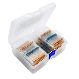 1460 Piece Resistor Assortment Kit metal Film Resistor Resistance 1 4 Watt 1 Ohm