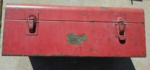 Vintage Snap On Water Slide Decal Tools Metal Storage Tool Box Tray Container