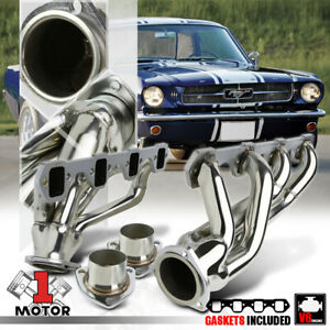 Stainless Steel Shorty Exhaust Header Manifold For 62 77 Mustang Fairlane Cougar