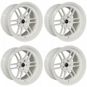 18x11 Mst Suzuka 5x120 10 White Wheels Rims Set 4