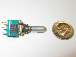 Alco Mtl106e Miniature Toggle Switch Spdt On off on locking Nos