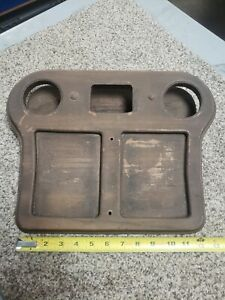 1970s Chevy Gmc Hippie Van Custom Center Console Cover Wood Drink Tray 1971 1977