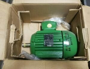 New Weg 2 Hp Electric Ac Motor 208 230 460 Vac 3490 Rpm 145t Frame 3 Phase