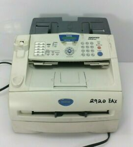 Brother Fax Machine Super G3 33 6 Kbps Powers On Good Condition Intellifax