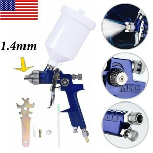 1 4 Mini Hvlp Air Paint Spray Gun Sprayer Auto Car Detail Touch Up Gravity Tool
