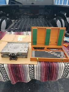 Moore Tools Sine Table 10 x12 W Clamp Rod Tooling Set
