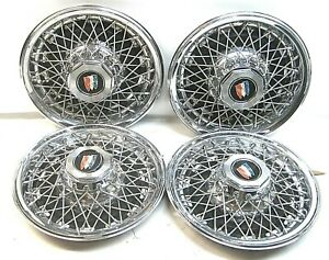 Set 4 15 1979 1985 Buick Park Avenue Electra Lesabre Locking Wire Wheel Covers