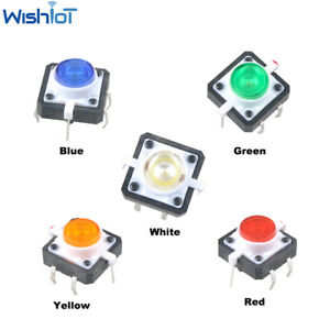 10pcs Mini Tactile Push Button Switch Momentary Tact Led Pushbutton Switches