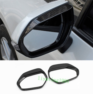 Carbon Fiber Rearview Mirror Frame Trim For Toyota Corolla Hatchback 2019 2021
