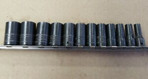 Snap On 1 4 Dr Metric 6pt Semi Deep Impact Socket 12pc Set