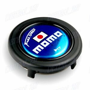 Momo Blue Full Speed Steering Wheel Horn Button Sport Competition Tuning 59mm