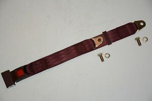 6 Burgundy 2 Point Lap Seat Belt Middle Passenger Safety Belts Street Rod