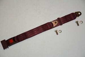 Burgundy 2 Point Lap Seat Belt Middle Passenger Safety Belts Street Rod