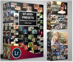 100 000 Photoshop Actions Overlay Lightroom Presets huge Collection